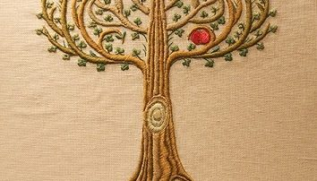 ricamo albero